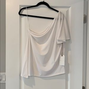 Leith Off the Shoulder White Top